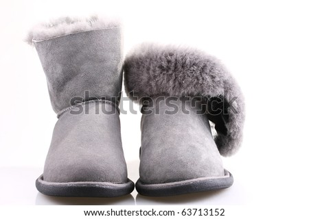 winter shoes isolated on white background