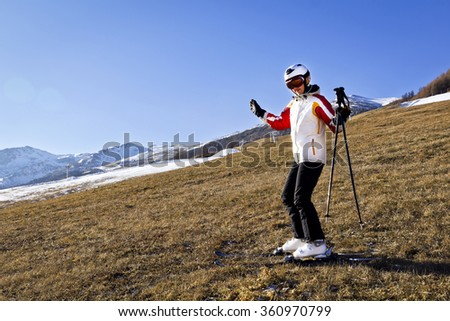 winter skiing and global warming problem