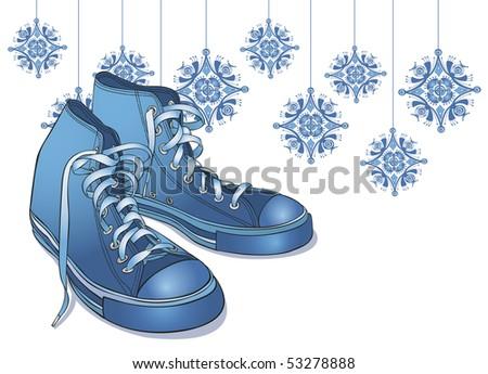 Winter Sneakers - RASTER version - stock photo