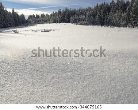 Winter snow background - stock photo