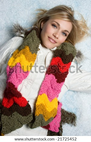Winter Snow Woman - stock photo