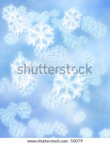 Winter Snowflakes - stock photo