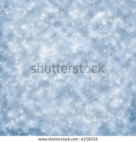 winter snowflakes background - stock photo