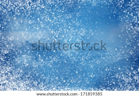winter snowy background blizzard, frost  - stock photo