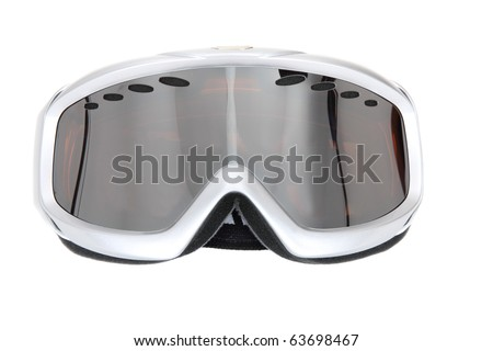 Winter sport glasses. Isolated on white background - stock photo
