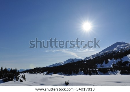 Winter sports in Alaska - stock photo
