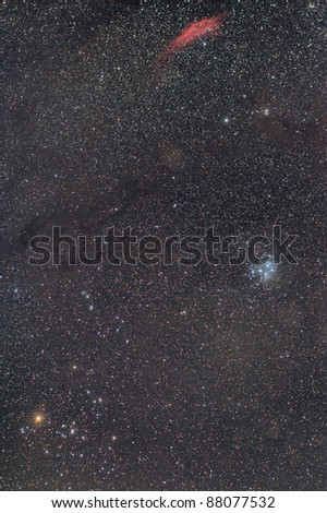 Winter stars - stock photo