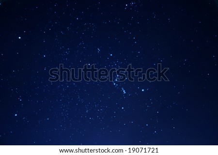 Winter stars - constellation of Orion - stock photo