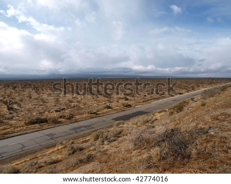 Winter storm crossing the Mojave desert in Southern California.