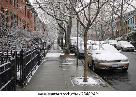 winter street - stock photo