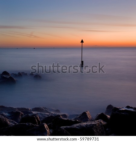 Winter sunrise, Sandbanks, Poole, Dorset, UK
