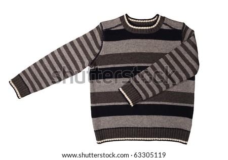 winter sweater on white background - stock photo