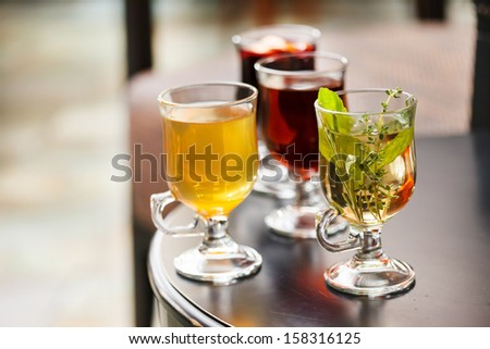 winter tea - stock photo