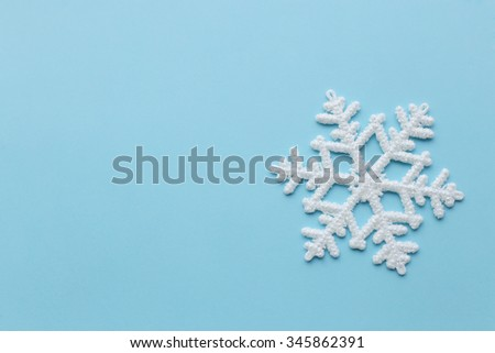 Winter, texture. Snowflake in details - stock photo
