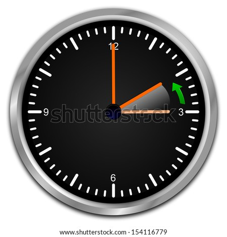 winter time - clock showing end of daylight saving time - stock photo