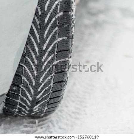winter tire - stock photo