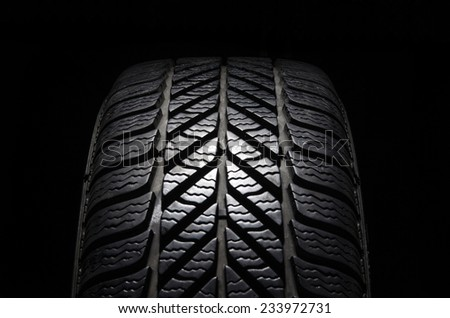 Winter tires - stock photo
