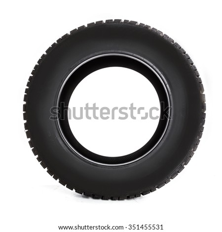 Winter tires isolated - stock photo