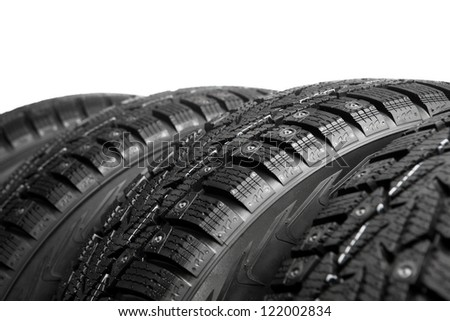 winter tires part isolated on white