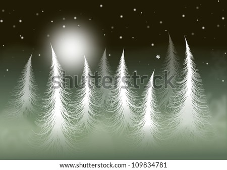 winter trees - stock photo