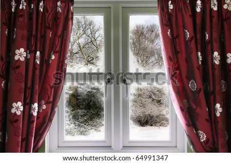 Winter view from a window