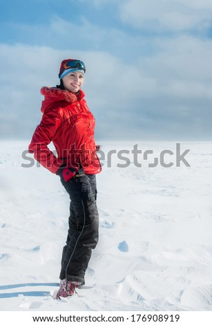 Winter walk - stock photo