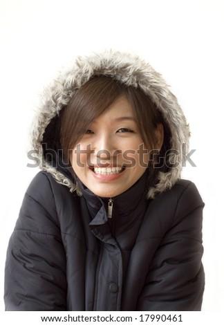 winter women - stock photo