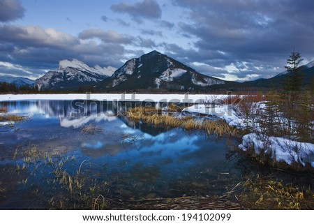 Winter Wonderland in Canada - stock photo
