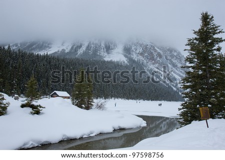 Winter Wonderland in Canadian Rocky Mountain Alberta, Canada - stock photo