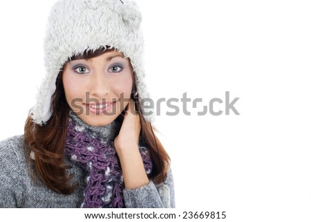 Winter young Woman