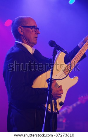 WINTERBACH, GERMANY - OCTOBER 22: British guitarist and singer Andy Fairweather-Low perform in concert at the Lehenbachhalle on October 22, 2011 in Winterbach, Germany