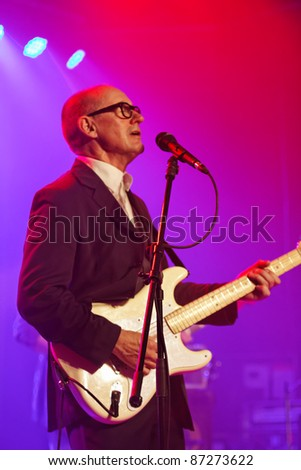 WINTERBACH, GERMANY - OCTOBER 22: British guitarist and singer Andy Fairweather-Low performs in concert at the Lehenbachhalle on October 22, 2011 in Winterbach, Germany