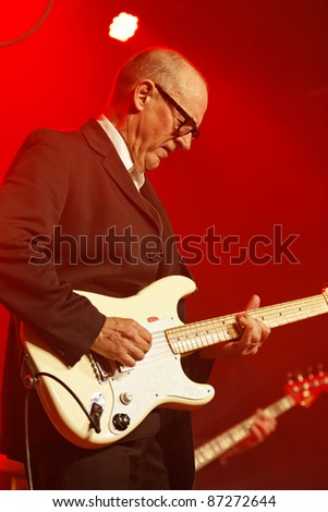 WINTERBACH - OCTOBER 22: British guitarist and singer Andy Fairweather-Low concert in the Lehenbachhalle October 22, 2011 in Winterbach, Germany