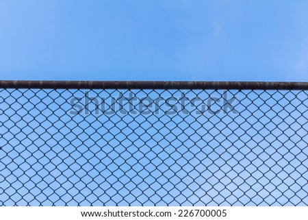 wire fence - stock photo
