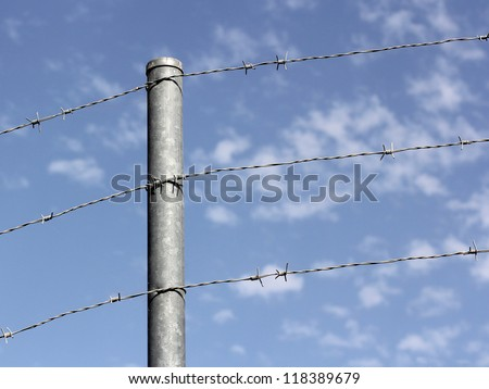 Wire fence and sky