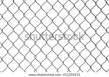 Wire fence and snow texture. - stock photo