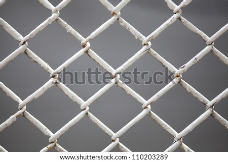 wire fence close up - stock photo