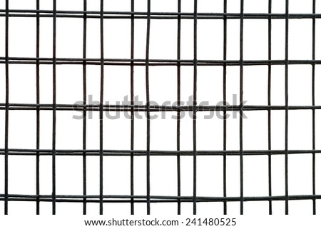 Wire fence on whtie background - stock photo