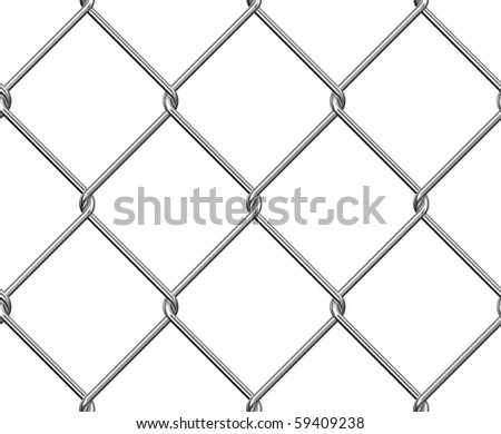 Wire Fence Seamless - stock photo