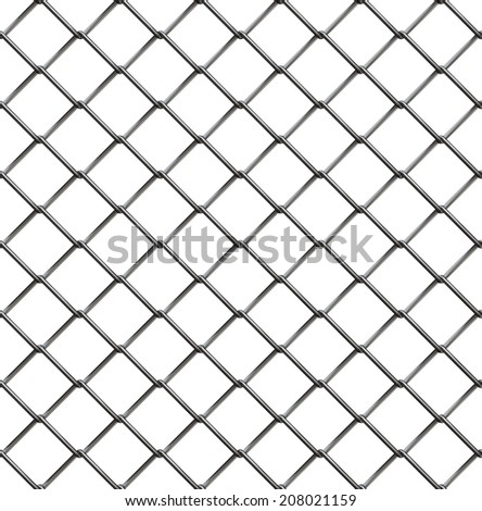 Wire fence seamless pattern, 3d illustration - stock photo