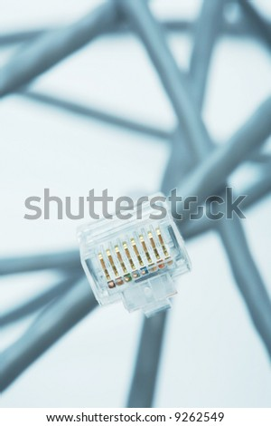 Wire for connection of a computer to the Internet