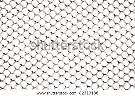 wire net isolated white background - stock photo