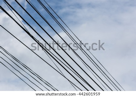 wire on sky background.