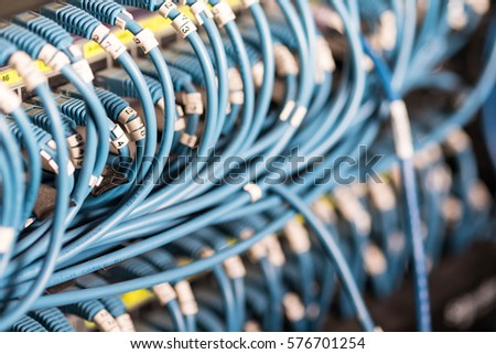 Wire Network Switch Server Room Stock Photo (Royalty Free) 576701254 ...