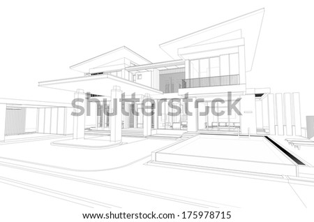Architecture Drawing Of House architectural drawing stock images, royalty-free images & vectors