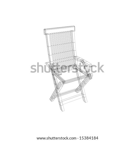 Wireframed chair - stock photo