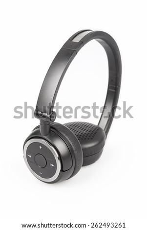 wireless bluetooth headphones isolated on white background