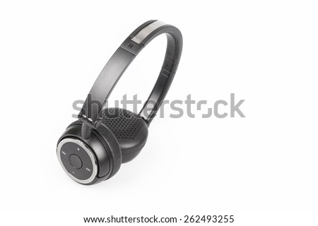 wireless headphones isolated on white background