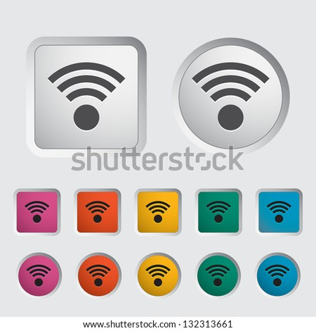 Wireless icon. Vector version also available in my portfolio. - stock photo