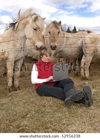 Wireless in the country - stock photo